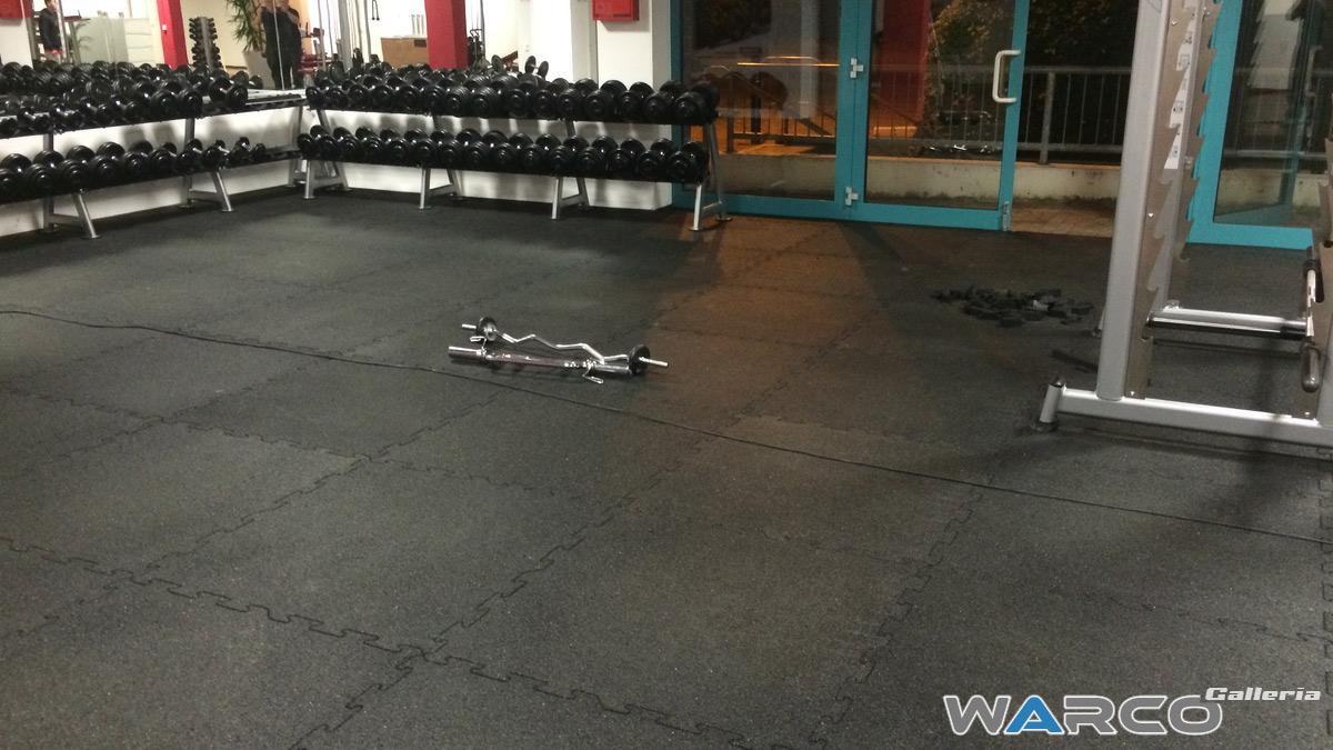 Pavimenti per esterni in gomma fitness