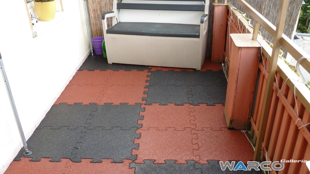 Pavimenti per esterni in gomma
